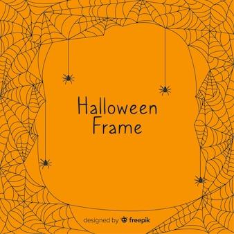 Wspaniała ramka na halloween o płaskiej konstrukcji
