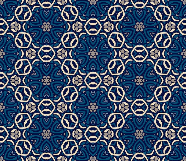 Wspaniały bezszwowy wzór niebieski orientalne płytki, ozdoby. może być używany do tapet, tła, dekoracji do projektu, ceramiki, wypełnienia strony i innych.