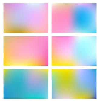 Wspaniały kolor gradientu siatki niewyraźne tło