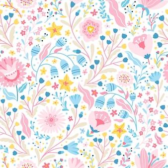 Wspaniały kwiatowy wzór