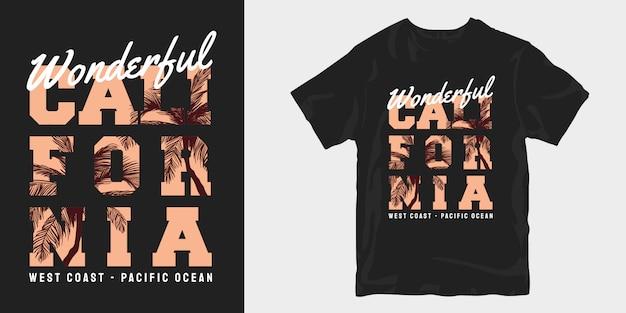 Wspaniały t-shirt z kalifornii projektuje towar