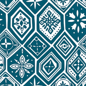 Wspaniały wzór z indygo niebieskie płytki, ozdoby. może być używany do tapet, wypełnień deseniem, tła strony internetowej, tekstur powierzchni.