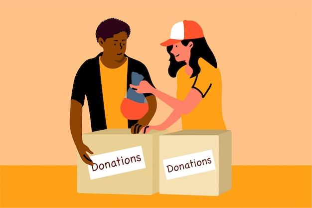 Wsparcie, dobroczynność, darowizny, opieka, wolontariat, koncepcja pomocy