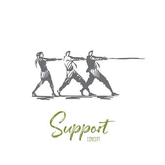 Wsparcie ilustracji w wyciągnąć rękę