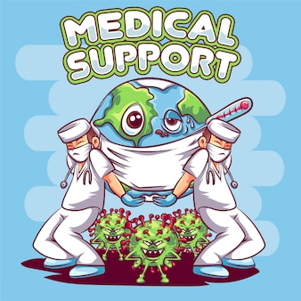 Wsparcie medyczne na świecie