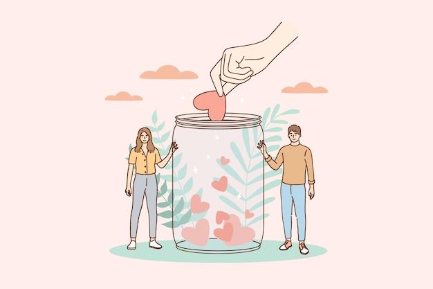 Wsparcie, wolontariat, ilustracja koncepcji charytatywnej