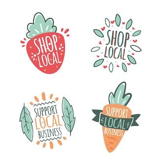 Wspieraj lokalny biznes koncepcja liternictwa