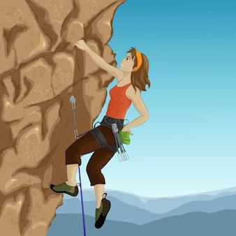 Wspinacz kobieta