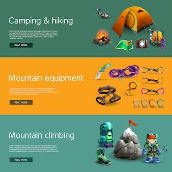 Wspinaczka interaktywny zestaw 3d banery