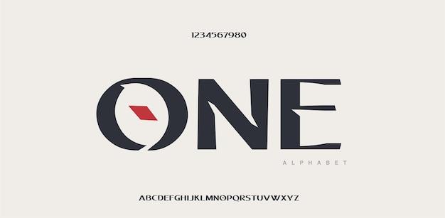 Współczesna czcionka i liczba liter alfabetu