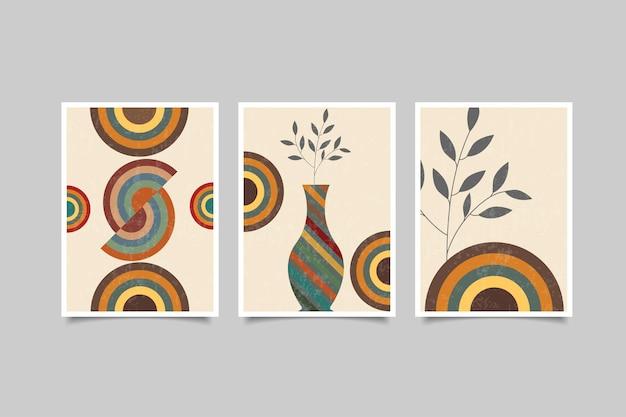 Współczesny zestaw dekoracji ściennych