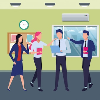 Współpracownicy biznesowi z artykułami biurowymi