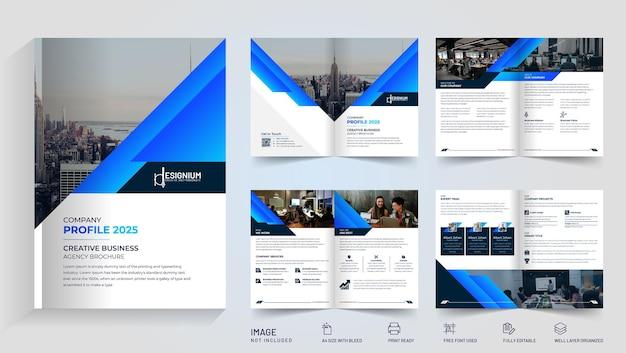 Współpracujący wektor projektu broszury bi-fold