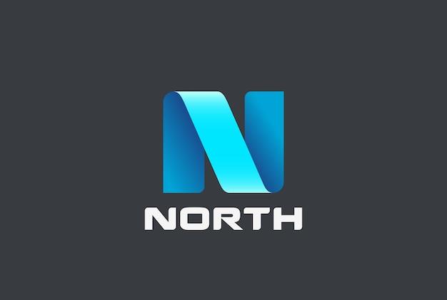 Wstążka logo litery n.