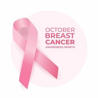 Wstążka świadomości raka piersi.