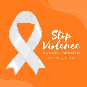 Wstążka świadomości zatrzymania przemocy wobec kobiet
