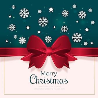 Wstążka świąteczna w tle