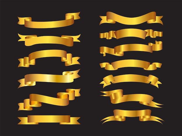 Wstążka złota opakowanie 01