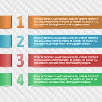 Wstążki poziome z numerami. nowoczesny szablon projektu dla firm infographic. szablon dla banerów, kart, projektów papierowych, układów stron internetowych, prezentacji itd. vector eps10.