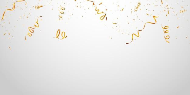Wstążki ze złotym brokatem