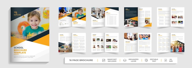 Wstęp do szkoły 16-stronicowy projekt broszury bifold