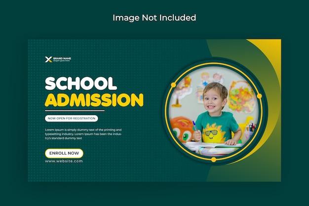 Wstęp do szkoły media społecznościowe i baner internetowy ulotka facebook okładka zdjęcie premium vector