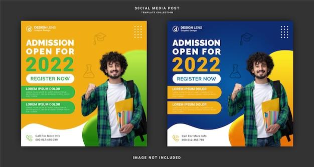 Wstęp na szablon postu w mediach społecznościowych open 2022