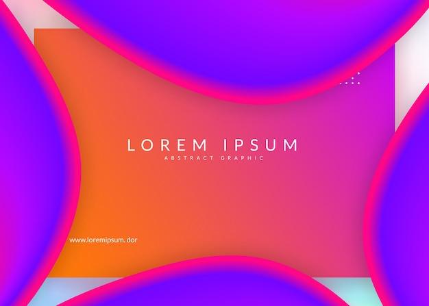 Wstęp. soft mobile, układ ekranu. żywa siatka gradientu. holograficzne tło 3d z nowoczesną modną mieszanką. strona docelowa z płynnymi elementami dynamicznymi i płynnymi kształtami.