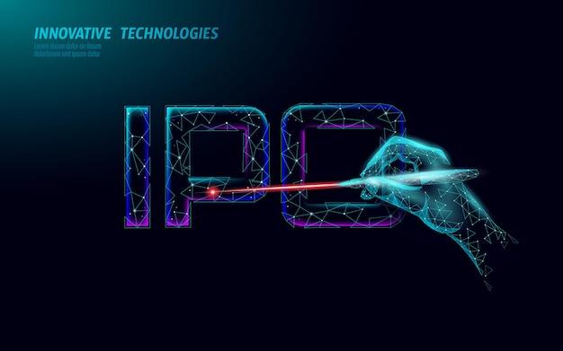 Wstępna moneta oferująca koncepcję technologii liter ipo