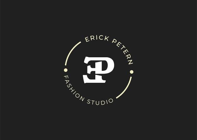 Wstępne ilustracje szablonu projektu logo litery ep