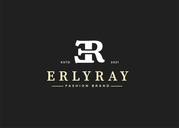 Wstępne ilustracje szablonu projektu logo litery er