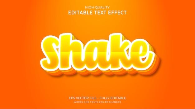 Wstrząsnąć efekt tekstowy, edytowalny efekt stylu tekstu kreskówki 3d.