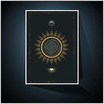 Wszechświat kosmiczny, plakat świętej geometrii.