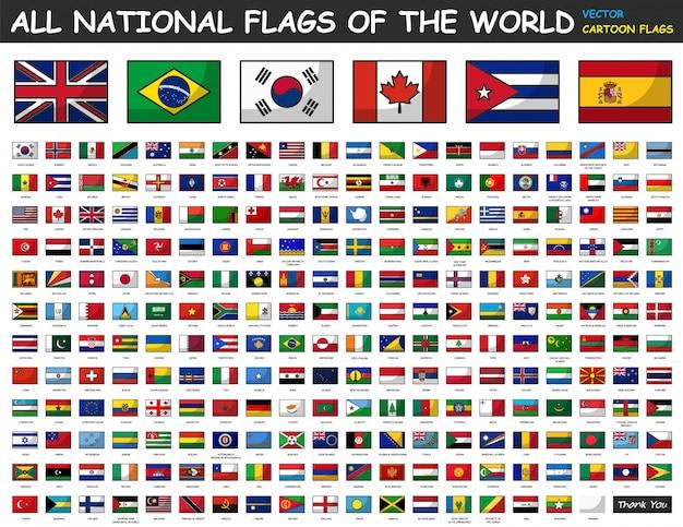 Wszystkie flagi narodowe świata