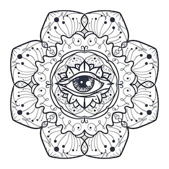 Wszystkie widzące oko w mandali