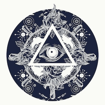 Wszystkie widzące piramidę oka