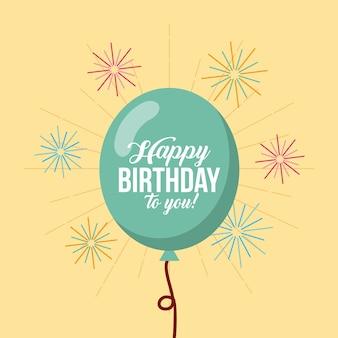 Wszystkiego najlepszego z okazji urodzin balonów kawaii