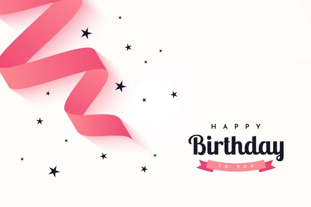 Wszystkiego najlepszego z okazji urodzin ciebie tło szablonu ilustracyjny projekt