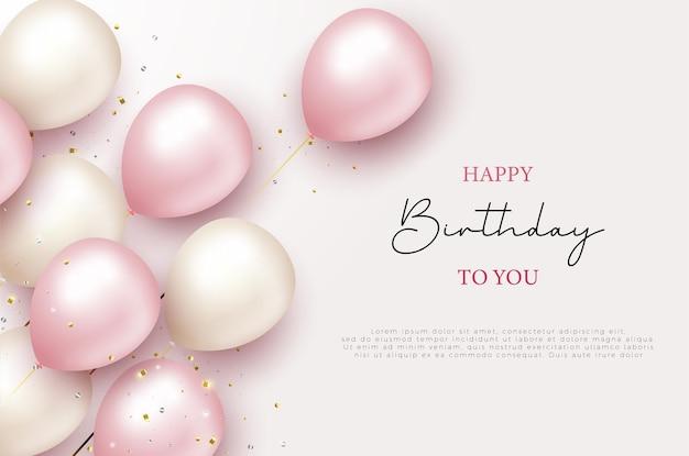 Wszystkiego najlepszego z okazji urodzin i balonów 3d