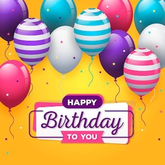 Wszystkiego najlepszego z okazji urodzin koncepcja z balonów