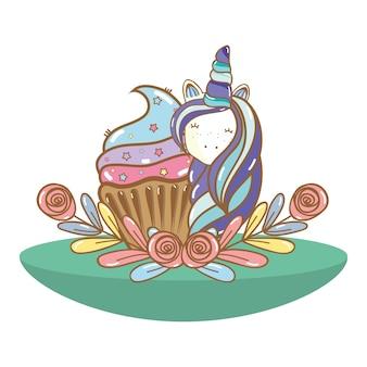 Wszystkiego najlepszego z okazji urodzin kreskówki jednorożca