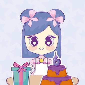 Wszystkiego najlepszego z okazji urodzin projekt z anime dziewczyną