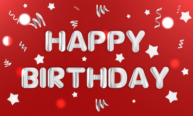 Wszystkiego najlepszego z okazji urodzin. realistyczna kartka z pozdrowieniami wektoru ilustracja. konfetti przedstawia pocztówkę z tekstem prezentu.