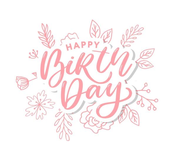 Wszystkiego najlepszego z okazji urodzin. retro vintage skład typograficzne.