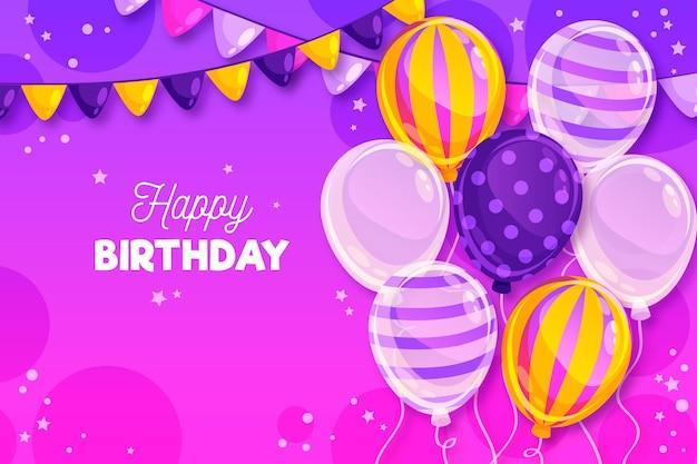 Wszystkiego najlepszego z okazji urodzin tło z balonów