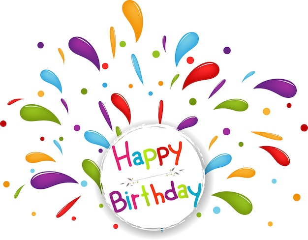 Wszystkiego najlepszego z okazji urodzin tło z confetti