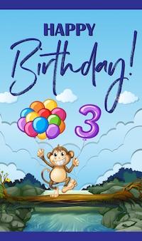 Wszystkiego najlepszego z okazji urodzin trzy lata