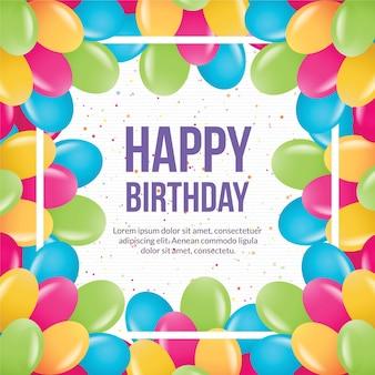Wszystkiego najlepszego z okazji urodzin wektorowych ilustracji