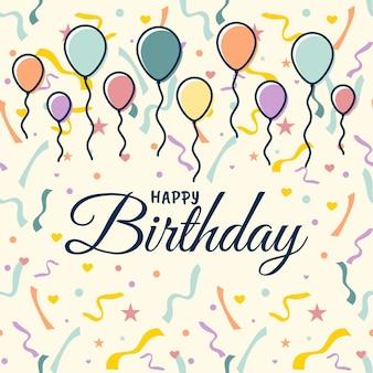 Wszystkiego najlepszego z okazji urodzin z balonami na kartki z życzeniami i plakat