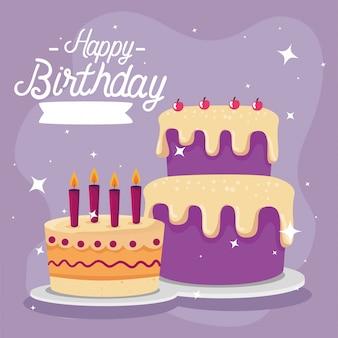 Wszystkiego najlepszego z okazji urodzin z dekoracji ciasta i strony